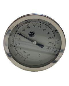 Thermometer Bimetal 0-250 W/ 9