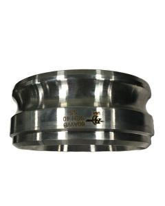 6 In. Stainless Butt Weld X Male Adapter