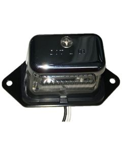 296 Led License Light, Chrome