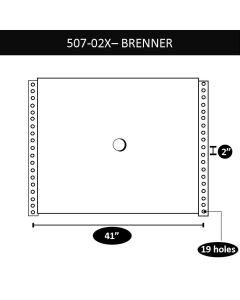 """Brenner Upper Coupler, 41"""" X 2"""", 10 Bolt Holes"""