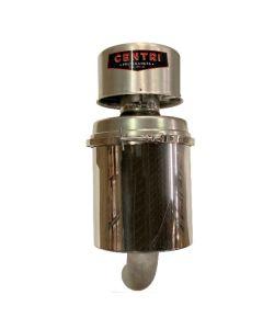 Polished SS Filter Canister, Pressure Only, Bottom Outlet
