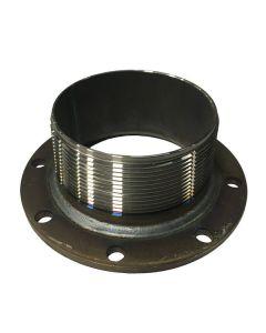 4 In. TTMA Mild Steel Flange, 4 In. Mpt