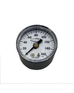 "Gauge, 0-160 PSI, Dry 1 1/2"" Face W/ 1/8"" Back Connect"