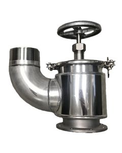 Betts 4 In. Stainless Steel QRB Valve, 90 Degree Bend