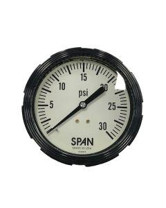 3.5 IN. SPAN GAUGE SPAN 0-30 LIQUID FILLED
