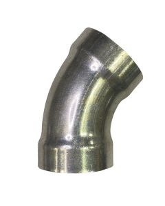 "3"" L/H 45Deg Seamless Aluminum Belled Elbow"